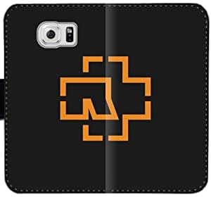 Rammstein Logo caja del cuero C8X1O Funda Samsung Galaxy S6 Edge Plus funda i720A3 balísticas del teléfono celular fundas caso del tirón