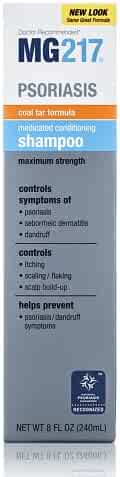 MG217 Psoriasis Medicated Conditioning Coal Tar Formula Shampoo, 8 Fluid Ounce