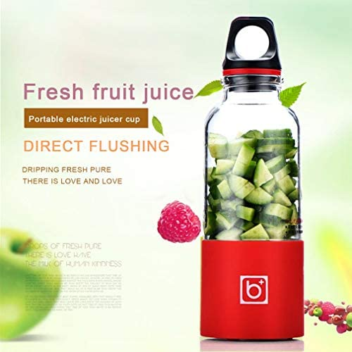 Mdsfe Presse-Agrumes électrique Mini Portable A5B Rechargeable Presse-Agrumes Mélangeur Tamis Presse-Agrumes Fruits Orange Jus Extracteur - Vert, A10