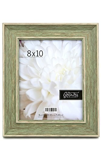 Green Tree Gallery Wide Scoop Frame with Distressing, Sage, for an 8 x 10 inch Photo (Photo Sage Frame)