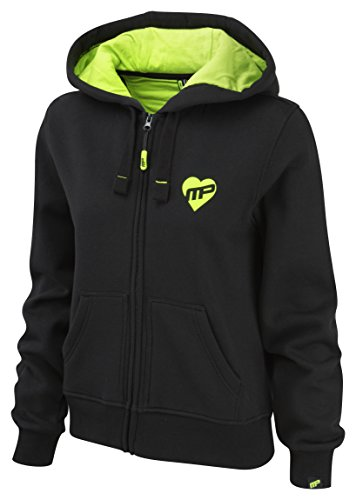 Musclepharm MPLSWT468 LADIES MUSCLE PHARM FULL ZIP HOODY BLACK/LIME GREEN X SMALL - De Mujeres Y Cremallera Con Capucha - Negro / Verde Lima, X-Small