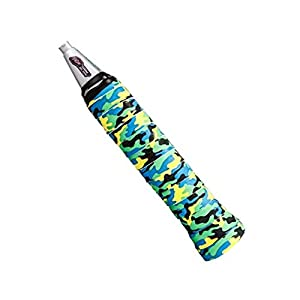 1 PC Camouflage PU Soft Absorb Moisture Anti slip Overgrip for Badminton(Green)