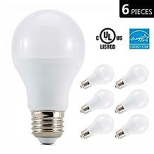 Otronics 10W LED Light Bulb A19 Non-Dimmable LED Bulb [65W Equivalent] , 2700K (Soft White Glow), 810 Lumens, Medium Screw Base(E26), UL-Listed (Pack of 6)