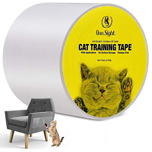 """Clear Training Tape Panther Armor Cat Scratch Deterrent Tape Double Sided Anti Cats Scratching Sticky Tape 8 4-Pack Large 17/""""L 10/""""W Furniture Protectors -Pack Eight 4-Pack XL 16/""""L 12/""""W"""