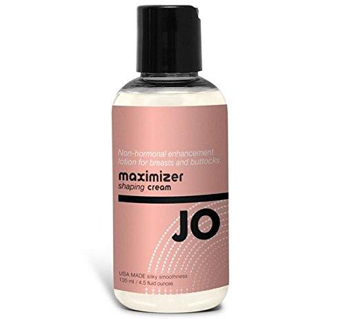 Système Premium Jo Maximizer façonnage Lotion crème amélioration Non hormonale pour poitrine & fesses lubrifiant bouteille USA fait douceur soyeuse: format 5 Oz / 135ml