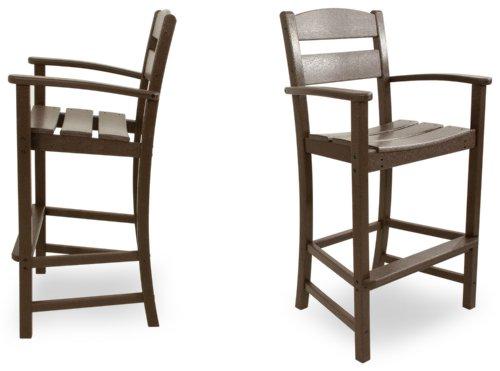 Ivy Terrace IVS110-1-MA Classics 2-Piece Bar Arm Chair Set, Mahogany