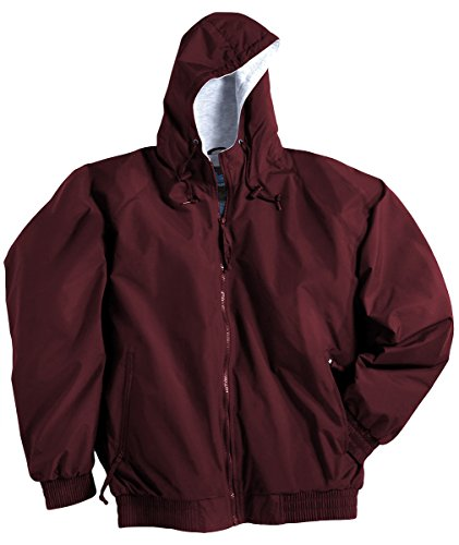 Tri-mountain Nylon hooded jacket with jersey lining. 3600TM - MAROON_XL