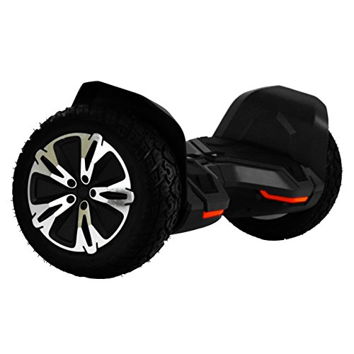 UL2272 Certified All Terrain 8.5″ Wheels Off Road HoverBoard Electric Scooter Smart Self-Balancing Hover board with Built-In Bluetooth Speaker and LED Light (Black)