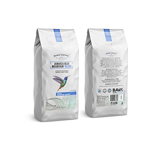 """Jamaica Blue Mountain Coffee Blend – """"Medium"""" Roasted Beans (16oz.) (Pack of 6) by BAWK Coffee (Image #3)"""
