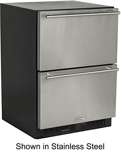 - Marvel ML24RDS2NB Under Counter Refrigerated Drawers Black Cabinet, 24