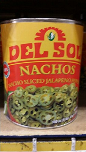 Del Sol Nacho Sliced Jalapeno Peppers 100 Oz (2 Pack)