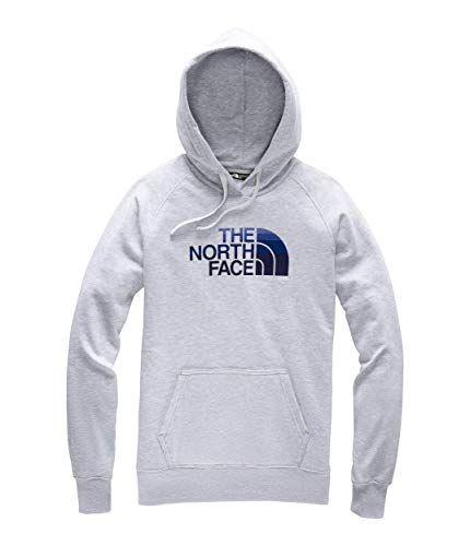 The North Face Women's Half Dome Pullover Hoodie TNF Light Grey Heather/Urban Navy Multi -