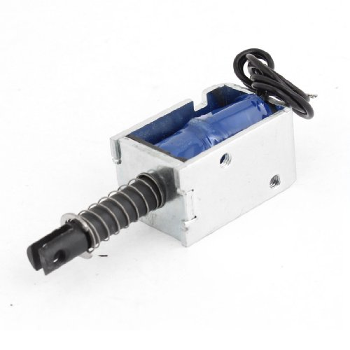 Solenoid Plunger - Uxcell a13072900ux1656 Open Frame Solenoid Electromagnet with Spring Plunger, 12VDC, 300 mA