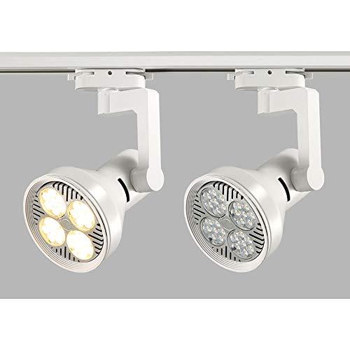 ZJⓇ Spotlight Track Light - Living Room Wall Track Lights Decorative Spotlights - Black/White - 20W/30W/40W - 4 Heads && (Color : White, Size : 20W) by ZJⓇ Spotlight (Image #4)