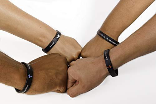 "Scripture Bracelets for Women and Men  (13-Pack) ""Power of Faith"" Wristbands by:Bel Amour Enterprise by Bel Amour Enterprise (Image #4)"