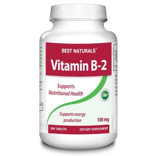 # 1 B-2 100 мг 180 таблеток лучшими Naturals - производитель в США на основе GMP Certified фонда и третьей стороной Проверено на чистоту. Гарантированная !!