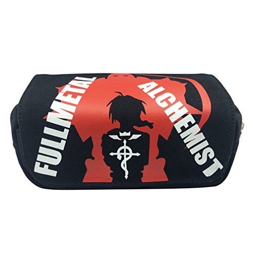 YOYOSHome Japanese Anime Cosplay Pencil Holder Cosmetic Bag Wallet Pencil Case Stationery Pouch Bag Pen Bag (Fullmetal Alchemist)
