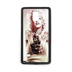 DIY Phone Case for Samsung Galaxy Note 4, Marilyn Monroe Cover Case - HL-537221