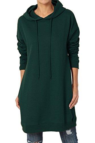 die Loose Fit Pocket Tunic Sweatshirts Hunter Green S/M ()