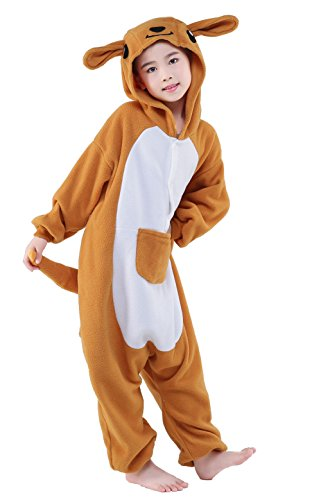 Olasante Unisex Child Kid Kangaroo Cosplay Costume Pajamas Masquerade Costume Jumpsuit Outfit,5-95