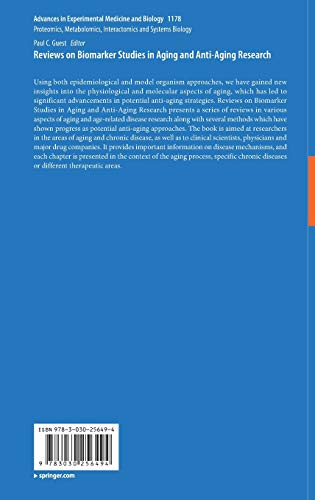 41uEEjYLtYL - Reviews on Biomarker Studies in Aging and Anti-Aging Research (Advances in Experimental Medicine and Biology)