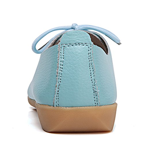 Mocassini In Pelle Causale Lingtom Scarpe Slip-on Piatte Da Donna Per La Guida Celeste
