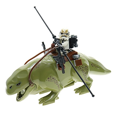Dewback Star Wars Minifigure with [BONUS] Sandtrooper! 100% Compatible with LEGO Star Wars Sets and LEGO Star Wars Minifigures