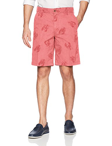 IZOD Mens Saltwater Dockside Printed Flat Front Short