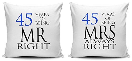 Decorativo juego de funda de almohada de señor Right ...