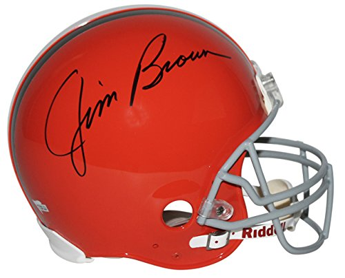 Browns Jim Brown Signed Authentic Full Size Helmet Autographed Fanatics ()