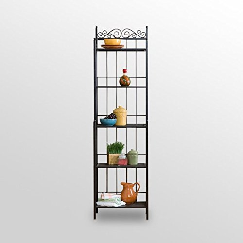 Beautiful Bakers Rack, Textured Gun Metal Grey Finish, Durable Metal Construction, Help Baked Goods Cool Faster, Keep Treats Off The Counter and Free Up Workspace