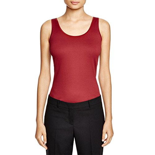 Price comparison product image Hugo Boss Womens Enken Sleeveless Scoop Neck Pullover Top Red M