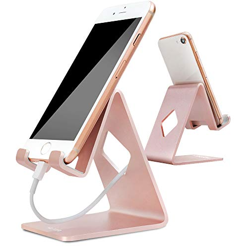 Stand for Phone, Charging Cell Phone Stand for Phone X 8 7 6 6s Plus & Tablet & Any Cell Phone - Rose Gold (Htc One Mini Makeup Case)