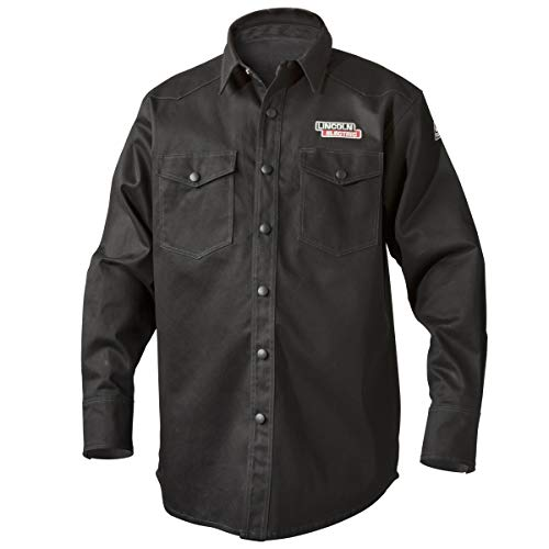 Cotton Welding - Lincoln Electric Welding Shirt | Premium Flame Resistant (FR) Cotton  | Custom Fit | Black | Large | K3113-L