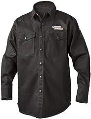 Lincoln Electric Welding Shirt   Premium Flame Resistant (FR) Cotton   Custom Fit   Black   Medium   K3113-M