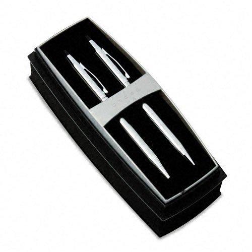 Lustrous Ballpoint Pen/Pencil Set, .5mm, Chrome Barrel ()