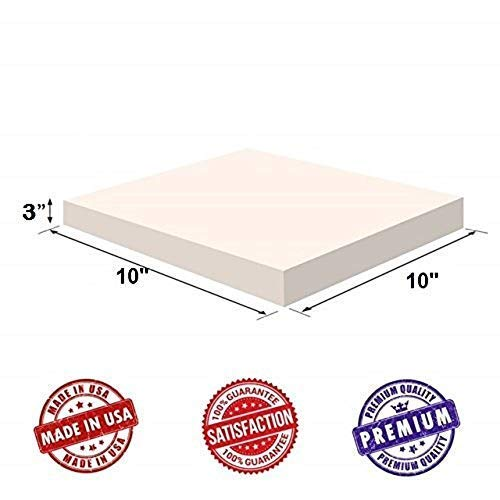 Upholstery Visco Memory Foam Square Sheet- 3.5 lb High Density 3