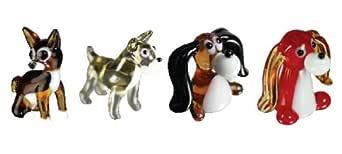 Looking Glass Miniature Collectible - Chihuahua/Schnauzer/Beagle/Long Ear Dog (4-Pack)