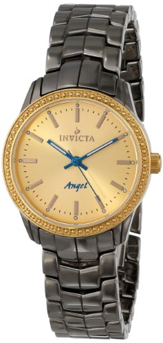 Invicta Women's 14911 Ceramics Gold Dial Gunmetal Tone Ceramic Watch