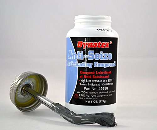 Dynatex 49558 Industrial Aluminum Anti-Seize and Lubricating Compound Paste, 8 oz Brush Top Bottle, -60 to 2000 Degree F, Silver Grey by Dynatex (Image #1)