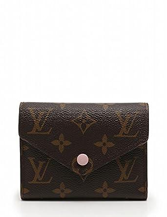 7670232703df Amazon.co.jp: (ルイ・ヴィトン) LOUIS VUITTON 財布 三つ折り ポルトフォイユ ヴィクトリーヌ モノグラム 茶 ピンク  ローズバレリーヌ M62360 中古: 服& ...