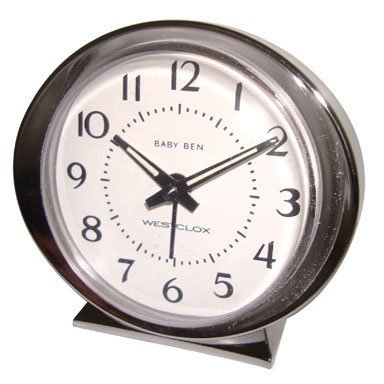 Westclox Alarm Clock Beige Brushed Stainless Steel for sale  Delivered anywhere in USA