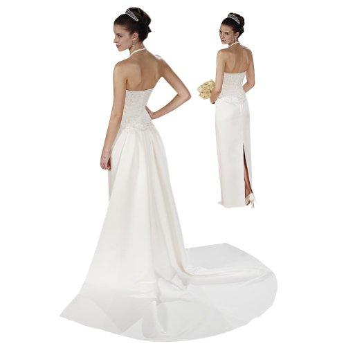 Brautkleider Strap Zug Kapelle Cross X GEORGE abnehmbarer Elfenbein BRIDE Formale Hochzeitskleider q8ROw6B