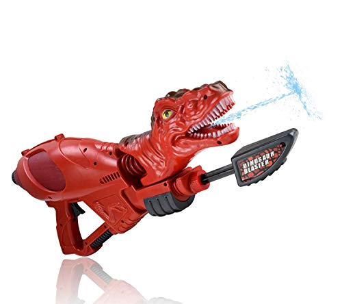 WolVol Large Dinosaur Water Gun - Well-Made Plastic T-Rex Water Blaster - Powerful & Easy to Carry for Boys & Girls