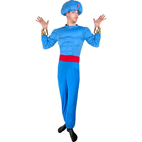 Adult Blue Muscle Genie Costume Size: (Genie Costumes Men)