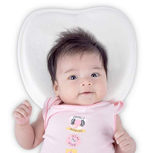 Premium Memory Foam & Bamboo Baby Pillow | Prevent Flat Head Syndrome, Plagiocephaly, Brachycephaly & Torticollis | Essential For Newborns & Infants | Breathable & Hypoallergenic | Sleep Guide eBook