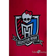 Monster High Skull Panel Anti-Pill Polar Fleece - Plush Fabric Polyester 13 Oz 58-60""