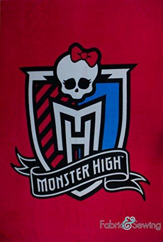 - Monster High Skull Panel Anti-Pill Polar Fleece - Plush Fabric Polyester 13 Oz 58-60