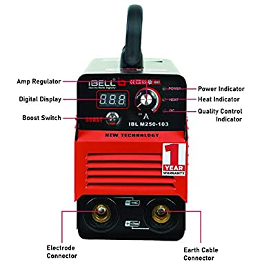 iBELL Inverter ARC Welding Machine (IGBT) 250A with Hot Start,Anti-Stick,Arc Force,Power Boost Functions- 1 Year Warranty 8