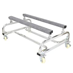 Description This brand new boat dolly. This watercraft accessory is ideal for moving small boats or jet skis. The body is constructed with galvanized tubular (metal) frame with 4 rugged casters for a durable carry. For more vessel support, th...